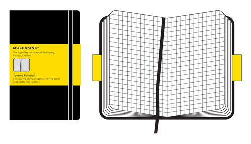 Moleskine Classic Pocket Squared Notebook X 3!